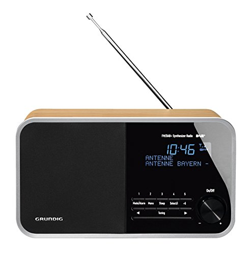 Grundig DTR 3000 Table Digital Radio, 30 W PMPO, AUX-IN, UKW-RDS und DAB+ mit jeweils 10 Stationsspeicher eiche
