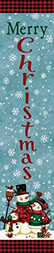 Merry Christmas - Snow Family - Yard Expression Sign - 6 inch x 30 inch PVC Sign Licensed, Trademarked, Copyright by CDI. Made in The USA!