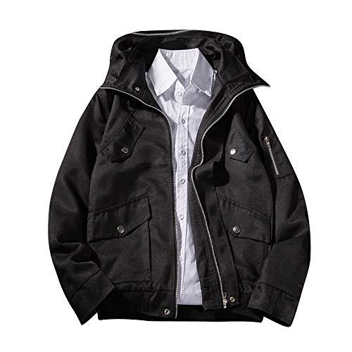 YKARITIANNA Men's 2018 New Coat, Men's Autumn Winter Casual Baggy Long Sleeve Hoodie with Pocket Solid Comfy Jacket Coat