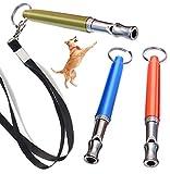 DMFSHI Fischietto per Cani, Ultrasuoni per Cani, Fischio di Addestramento del Cane con Suono Ad Alta Frequenza Regolabile per lAddestramento di Obbedienza, Richiamo, Comandi di Insegnamento (3 PCS)