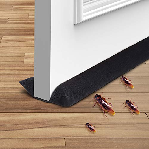 Ohuhu Under Door Draft Stopper, Twin Door Draft Blocker, Double Side Door Sweep, Adjustable 32