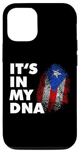iPhone 12/12 Pro It's In My DNA Puerto Rico - Finger Print Boricua Flag Case
