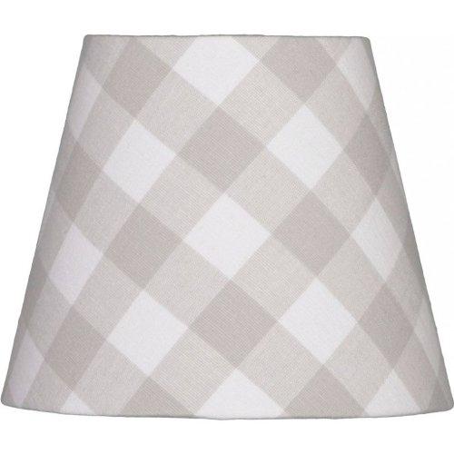 Abat-jour rond à carreaux gris clair e14 16 cm