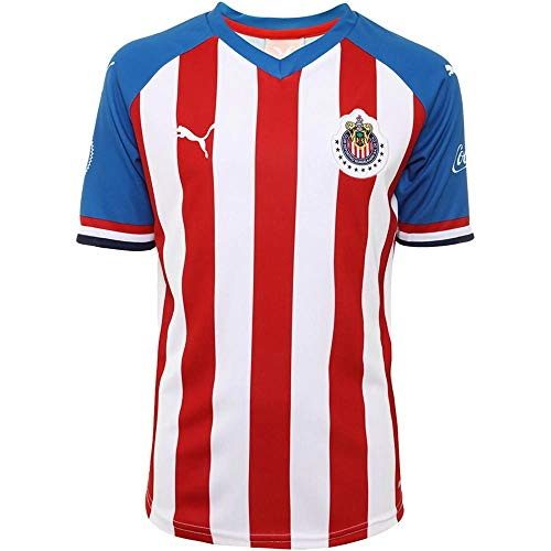 PUMA Kid's Chivas Home Jersey 2019-20 (Small) Puma Red-Puma Royal