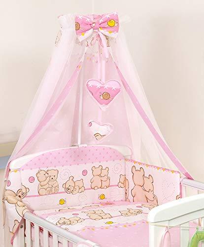 Pro Cosmo Baby Nursery/lettino Baldacchino 230x150cm + METAL SUPPORTO per Culla Lettino Zanzariera #7 rosa orsi orsetti