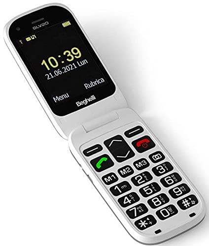 Beghelli Salvavita Phone 20 - Teléfono móvil GSM, botón SOS, Dual SIM, GPS para localización incluido, gris, 1132