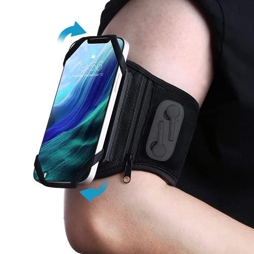 SenMore Brazalete Movil Running,Brazalete de antebrazo Movil Transpirable con Bolsillito Airpodsy Rotación de 360°,para Poco X3 Pro,Redmi Note 10/9/8 Pro,Redmi 9,Samsung Galaxy A21S