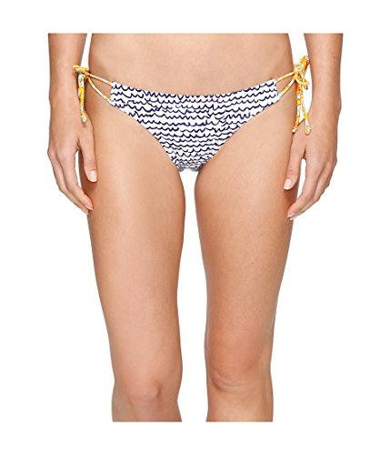 Echo Design Women's Fleur De La Mer String Bikini Bottom, White, XS