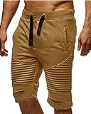Sweatshorts De Verano Rayas para Plisado A Hombres Cintura Elástica Bermudas Pantalones Cortos Festivo Joven Regalos...
