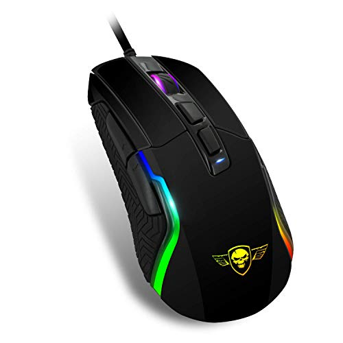 SPIRIT OF GAMER- Gaming Ratones PRO-M7 - LED retroiluminado 11 modos - Colores RGB - Personalizable - Hasta 4800 DPI Máx. - 3 Perfiles personalizables - 7 Botones programables - XBOX ONE / PC