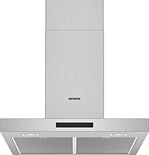 Siemens 西门子 LC66BBM50 抽油*机/墙罩 / 60 厘米 电子控制 / 金属油脂过滤器 / 不锈钢