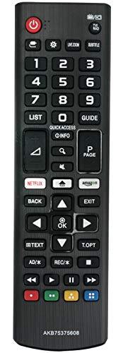 ALLIMITY AKB75375608 Telecomando Sostituito per LG 4K UHD TV 50UK6500 50UK6750 55UK6100 55UK6300 55UK6400 55UK6470 55UK6500 55UK6750 65UK6100 65UK6300 65UK6400 65UK6500 65UK6750