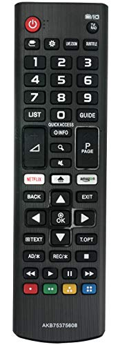 ALLIMITY AKB75375608 Mando a Distancia reemplazado por LG 4K UHD TV 50UK6500 50UK6750 55UK6100 55UK6300 55UK6400 55UK6470...