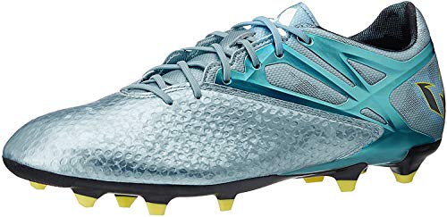 adidas Messi 10.1 FG/AG, Chaussures de Football Homme, Argent Mat Ice Metallic Bright Yellow Core Black, 47 1/3 EU