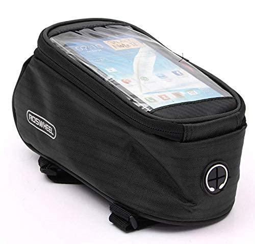Riloer - Borsa per bicicletta, impermeabile, con supporto per telefono cellulare, per bicicletta e...