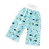 Zhizhuo Baby Windel Rock Shorts, bequeme Kinder Cartoon Hose, wasserdicht, auslaufsicher, hohe Taille, Bauchschützende Windelhose für Kleinkinder