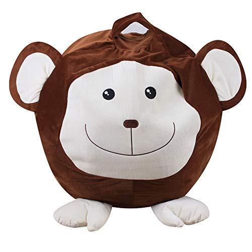 ROGF Travel Storage Bag Animals Bean Storage Bag Plushs Stuffed Storage Box Children's Household Items For travel (Color : Brown)