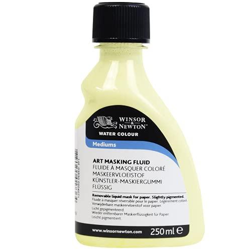 Winsor & Newton 3039759 akwarelowa guma maskownicza płynna, ściągana gumka do zdrapywania zapewnia precyzyjne prowadzenie linii w płynnej farbie akwarelowej, butelka 250 ml