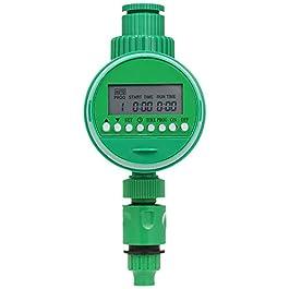 Fesjoy Ordinateur d'arrosage programmable, tuyau d'eau programmable, minuterie d'eau 3/4″ 1/2″ automatique, minuteur d'arrosage numérique, fonctionnement à piles.