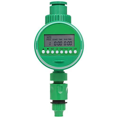 Fesjoy Programador de Riego a Pilas, Manguera Programable Temporizador de Agua 3/41/2 Temporizador Digital automático de Agua