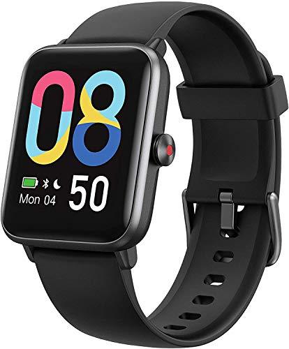 Lintelek Smartwatch 1,55 Zoll HD Touch Farbdisplay mit Dynamischem Hintergrund Fitness Tracker mit Pulsuhr Blutsauerstoff Schlafmonitor Smart Watch 5ATM Wasserdicht mit Schrittzähler für Damen Herren