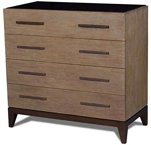 Affordable Scarborough House Chest of Drawers Brown Cerused Oak Bronze Lacquer Soft Close