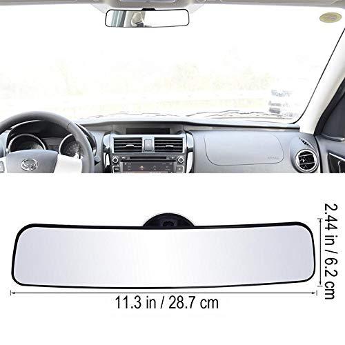 GTFHUH Panorama-Rückspiegel Universal-Weitwinkel Rückspiegel mit Sauganlage Auto-Innenspiegel Innenspiegel