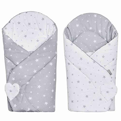 Sevira Kids - Saco de dormir para bebé (80 x 80 cm), diseño de estrella, color blanco