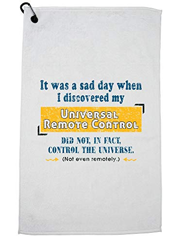 Hollywood draad universele afstandsbediening heeft geen controle universum Sarcastische Golf handdoek met karabijnhaak Clip
