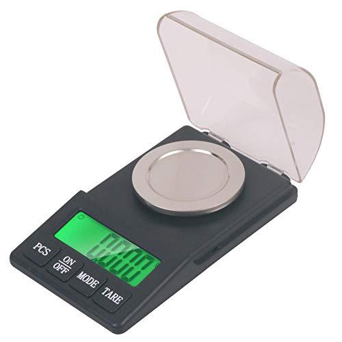Escala electrónica de joyería de medición de precisión de alta precisión 0.001g mg polvo de lápiz labial que pesa balanza de precisión de micro-quilates 300g / 0.001g