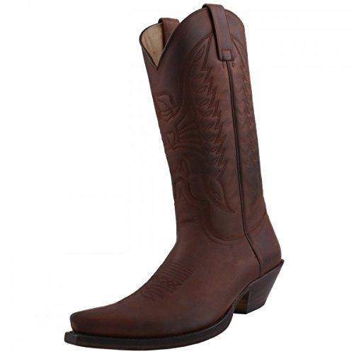 Sendra Boots Cowboystiefel 2073 Braun, Schuhgröße:EUR 42