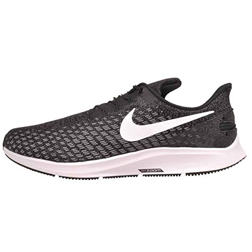 Nike FlyEase Air Zoom Pegasus 35 Black/White/Gunsmoke/Oil Grey 10 4E - Extra Wide