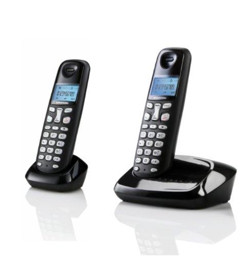 SAGEMCOM D160 DUO - Teléfono fijo inalámbrico sin contestador: Amazon.es: Electrónica