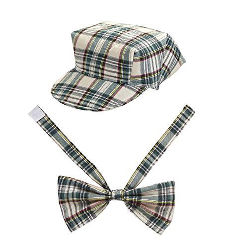 Widmann Beige Tartan Hat & Bow TIE