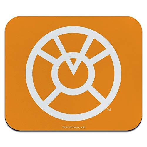 Green Lantern Blackest Night Orange Lantern Logo Low Profile Thin Mouse Pad Mousepad