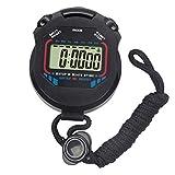 Sport Stoppuhr Digital Handheld Schwarz Multifunktions Professionelle Elektronische Chronograph Sports wasserdichte Stoppuhr Mit Batterie