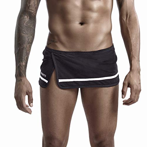Yowablo Herren Shorts Badepants Sweatshorts Sport Shorts Trainingsshorts Kurze Jogginghose Boxer Shorts Kurze Hose Boxershorts Bermudas Sunbrief (XXL,Schwarz)