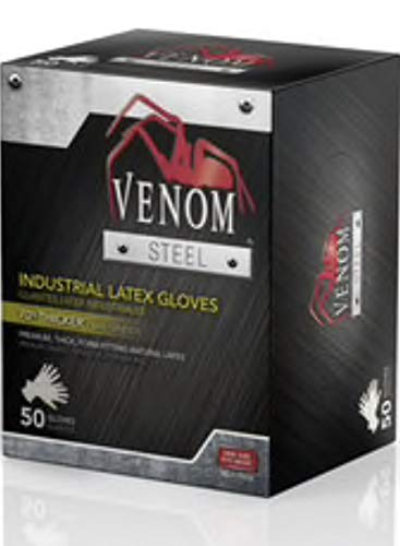 Venom Steel 50-Count One Size Fits All Latex Cleaning Gloves