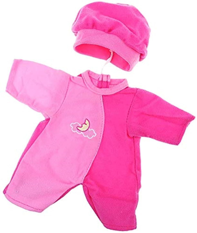 休憩する大いに日記DORA⊕BRS綿布製 人形衣類セット ストライプ ロンパース ハット付き 14インチアメリカガールドール人形対応