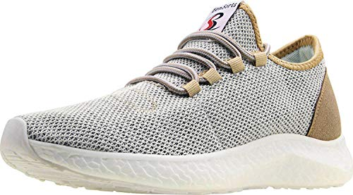 BenSorts Men's Tennis Shoes Comfortable Walking Shoes Gym Lightweight Sneakers for Workout Size 11 Gold