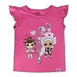 L.O.L Surprise ! Maglietta per Bambina LOL Dolls con Le Bambole Rocker, BFF Fancy & Fresh, Diva, IT Baby e M.C. Swag | Vestiti Estivi per Ragazza 100% Cotone (4/5 Anni, BFF)