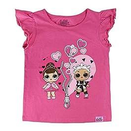 L.O.L. Surprise ! T-Shirt Fille avec Poupées Lol Dolls IT Baby, Leading Baby, Rocker, Fancy, Fresh, Diva Et M.C. Swag…