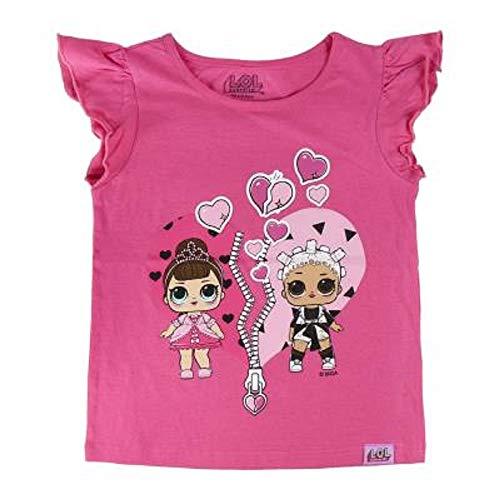 L.O.L Surprise ! Maglietta per Bambina LOL Dolls con Le Bambole Rocker, BFF Fancy & Fresh, Diva, IT Baby e M.C. Swag | Vestiti Estivi per Ragazza 100% Cotone (5/6 Anni, BFF)