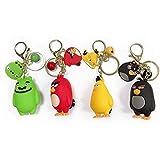 dsfgsdfh Portachiavi 4 pezzi di simpatico portachiavi Angry Birds cartone animato gioco di animazione Angry Birds portachiavi ciondolo Borsa portachiavi ciondolo Borsa Regalo