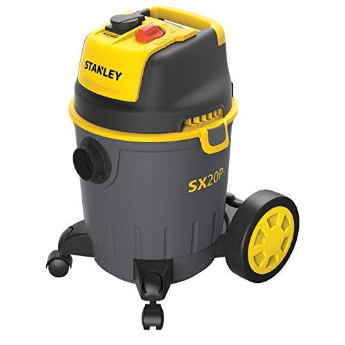 Stanley SXVC20PTE Aspiratore Solidi e Liquidi con Presa Elettroutensili, 1200 W, Giallo/Nero, 20 L