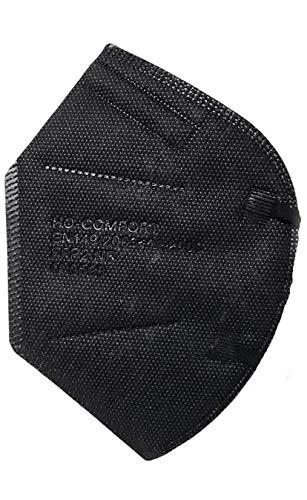 SALO MED - 20x - MASCARILLAS FFP2 NEGRAS - 5 Capas Filtrantes - CERTIFICADO CE - CAJA 20 piezas