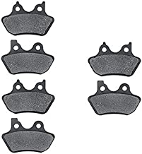 KMG Front + Rear Brake Pads for 2000-2003 Harley FXDWG Dyna Wide Glide - Non-Metallic Organic NAO Brake Pads Set
