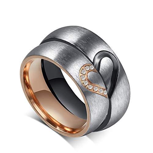 DDDDMMMY Anillo punk, simple y personalizado para pareja, anillo de joyería informal y único exquisito para hombres y mujeres, el mejor regalo de moda para aniversario de boda, mujer, 8