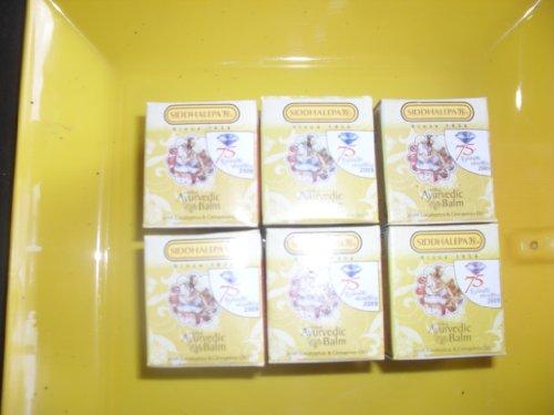 Ayurveda ayurvedische Herbal Natural Kräuterbalsam Siddhalepa Linderung von Erkältungen, Grippe, Kopfschmerzen, Zahnschmerzen, häufige Kopfschmerzen und Schmerzen 1Og x 6 similer to 60g