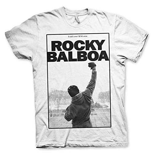 Rocky Balboa - Camiseta Ain't Over 'Til It's Over T-Shirt - 100% Oficial (X-Large)